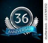 realistic thirty six years... | Shutterstock .eps vector #1115789252