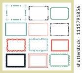 set of 12 elegant vector frames.... | Shutterstock .eps vector #1115791856