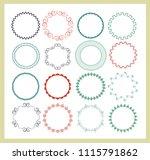 big set of  empty round frames. ... | Shutterstock .eps vector #1115791862