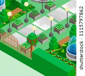 isometric game background ... | Shutterstock .eps vector #1115797862