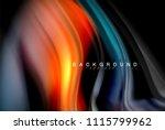 fluid liquid glowing colors... | Shutterstock .eps vector #1115799962