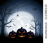 halloween night background with ... | Shutterstock .eps vector #111580115