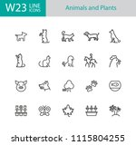 animals and plant icons. set of ... | Shutterstock .eps vector #1115804255