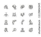 teamwork icons. set of  line...   Shutterstock .eps vector #1115804345