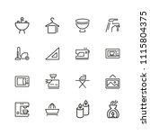 household icons. set of line... | Shutterstock .eps vector #1115804375