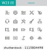 leisure icons. set of twenty... | Shutterstock .eps vector #1115804498