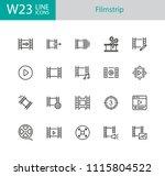 filmstrip icons. set of twenty... | Shutterstock .eps vector #1115804522
