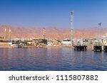 aqaba port  oil terminal  gulf...   Shutterstock . vector #1115807882