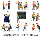 school students during... | Shutterstock .eps vector #1115808962