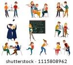 school students during... | Shutterstock .eps vector #1115808962
