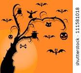 halloween | Shutterstock .eps vector #111581018