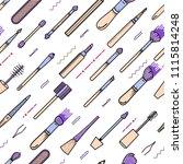 makeup seamless pattern... | Shutterstock .eps vector #1115814248
