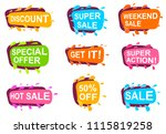 trendy speech bubble set for... | Shutterstock . vector #1115819258