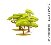 green forest icon. group of... | Shutterstock . vector #1115819342