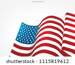 abstract american flag on white ... | Shutterstock .eps vector #1115819612