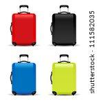 suitcase vector   Shutterstock .eps vector #111582035
