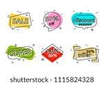 promo banner geometric bubbles. ... | Shutterstock . vector #1115824328