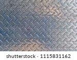 checkered steel plate | Shutterstock . vector #1115831162