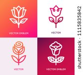 vector logo design template and ... | Shutterstock .eps vector #1115835842