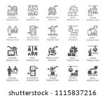 set of of automatic and manual... | Shutterstock .eps vector #1115837216