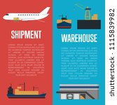 shipment and warehouse banners... | Shutterstock . vector #1115839982