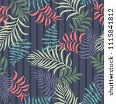 tropical background with palm... | Shutterstock .eps vector #1115841812