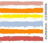 brush strokes seamless pattern. ... | Shutterstock .eps vector #1115843006