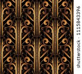 3d striped gold embroidery... | Shutterstock .eps vector #1115843396