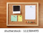 Cork Message Board With Variou...