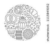 vector bakery shop banner... | Shutterstock .eps vector #1115845052