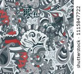 tracery seamless pattern.... | Shutterstock .eps vector #1115847722