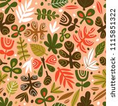 cute trendy design for fabric ... | Shutterstock .eps vector #1115851322