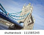 Tower Bridge Over The Thames...