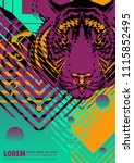 abstract cover design poster... | Shutterstock .eps vector #1115852495