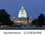 united states capitol at night | Shutterstock . vector #1115856398