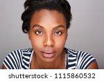 close up portrait of beautiful... | Shutterstock . vector #1115860532