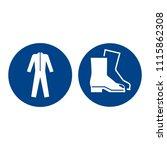 mandatory sign vector   wear... | Shutterstock .eps vector #1115862308