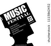 vector template for a concert... | Shutterstock .eps vector #1115862452