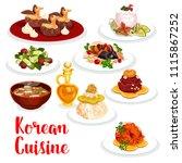 korean cuisine restaurant... | Shutterstock .eps vector #1115867252