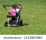 empty baby carriage on the... | Shutterstock . vector #1115867882