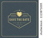 wedding invitation card design... | Shutterstock .eps vector #1115871035