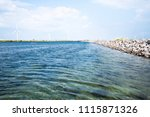 alternative energy   a row of... | Shutterstock . vector #1115871326