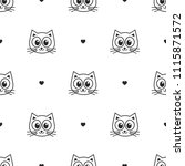 seamless pattern with cute cats ... | Shutterstock . vector #1115871572