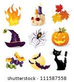 halloween icon set | Shutterstock .eps vector #111587558