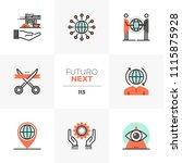 modern flat icons set of global ... | Shutterstock .eps vector #1115875928