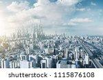 highway overpass with... | Shutterstock . vector #1115876108