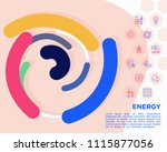 energy conceptwith thin line... | Shutterstock .eps vector #1115877056