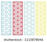 decorative geometric line... | Shutterstock .eps vector #1115878046