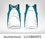 sleeveless sport t shirt design | Shutterstock .eps vector #1115880092