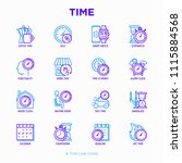 time thin line icons set ...   Shutterstock .eps vector #1115884568